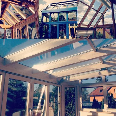 Fensterputzer Regensburg reinigt Wintergärten und Terassenüberdachungen.